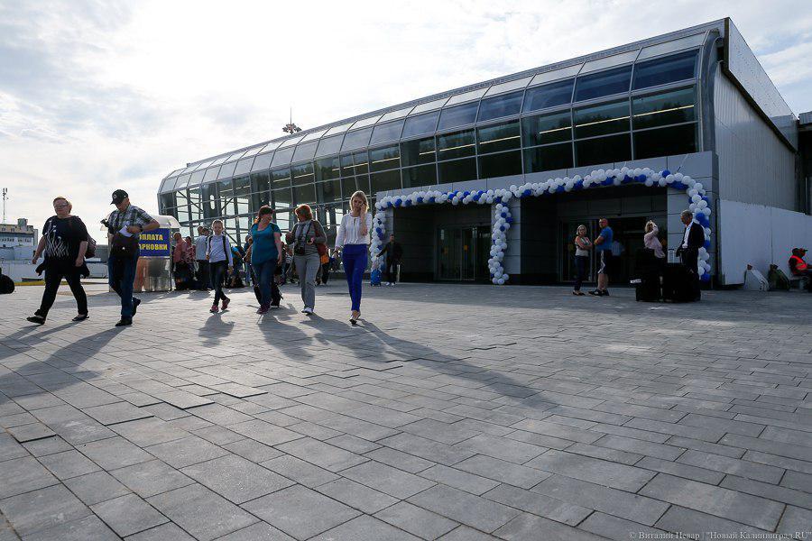 Аэропорт Калининграда принял первых пассажиров впостроенной части терминала