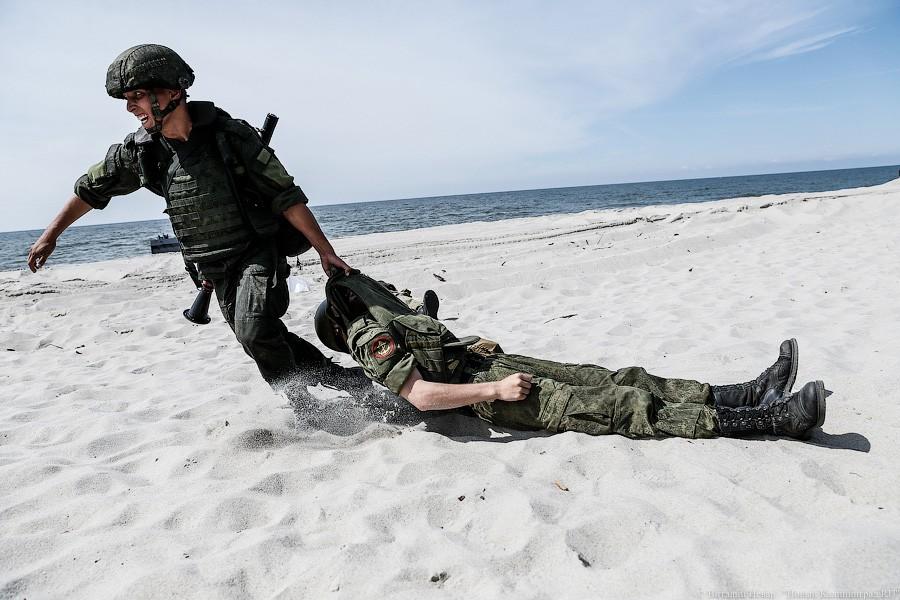 ВКалининградской области прошли тактические учения морских пехотинцев пообороне побережья