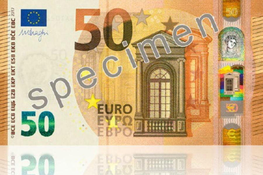 ЕЦБ выпустил вобращение новейшую версию банкноты в €50