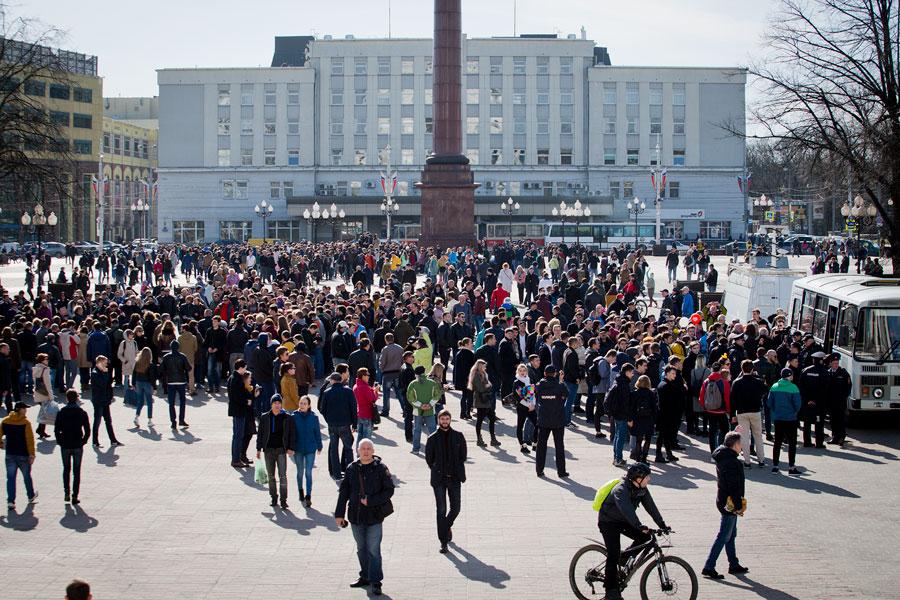 Основная часть граждан России неготова участвовать вакциях протеста