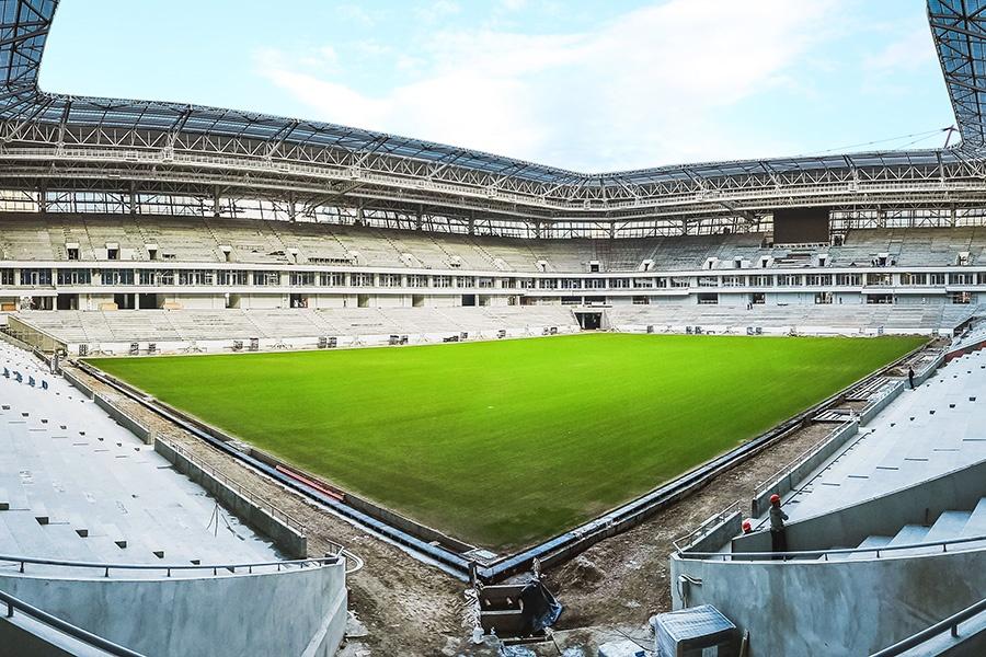 Накалининградском стадионе кЧМ-2018 взошла трава