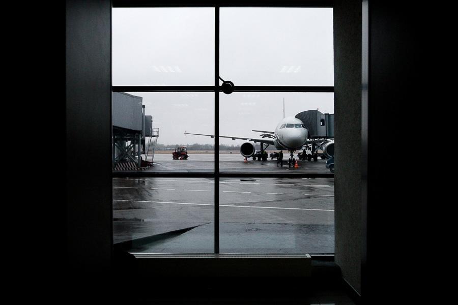 Из-за непогоды в«Храброво» задерживается несколько рейсов