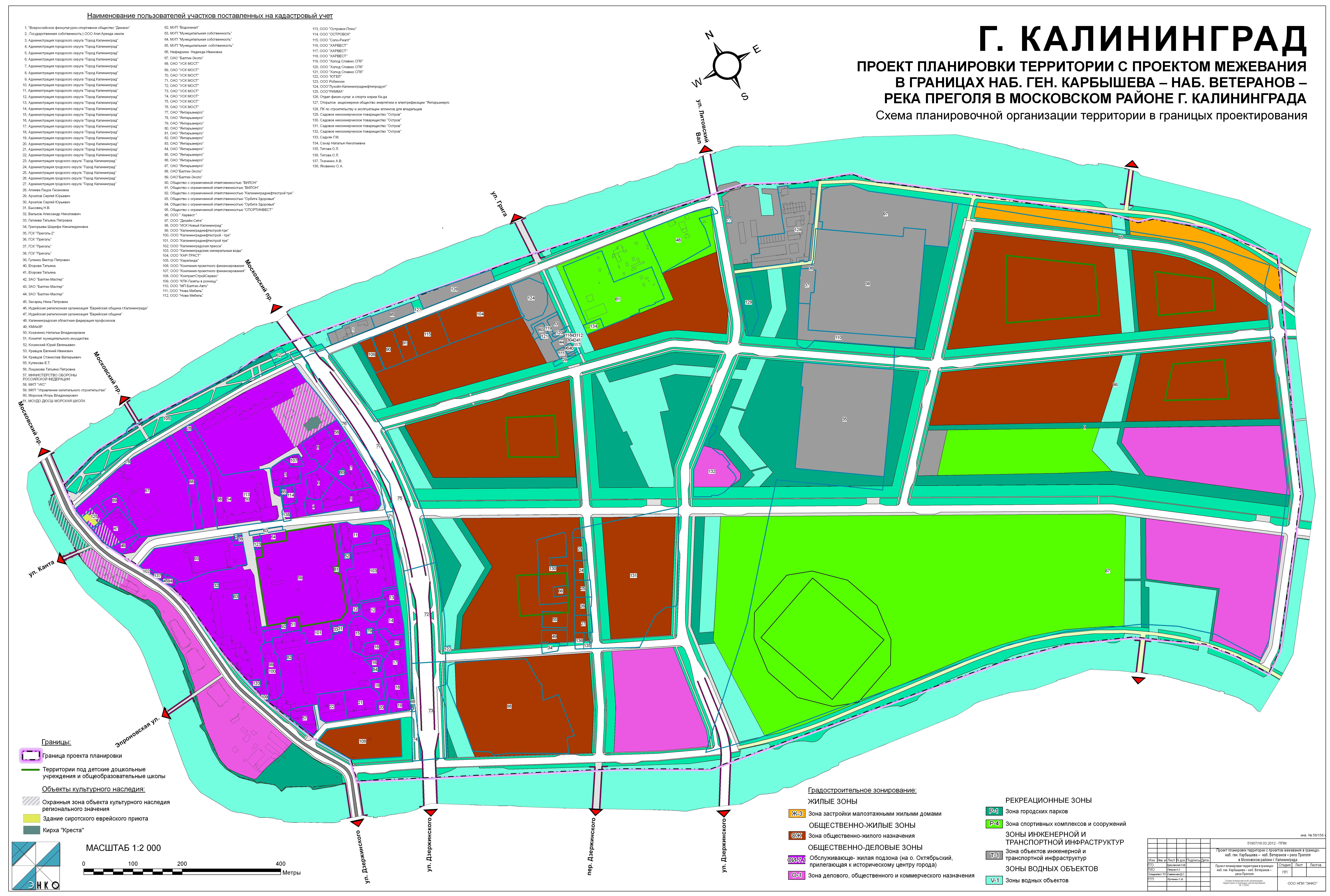 план схема города калининграда