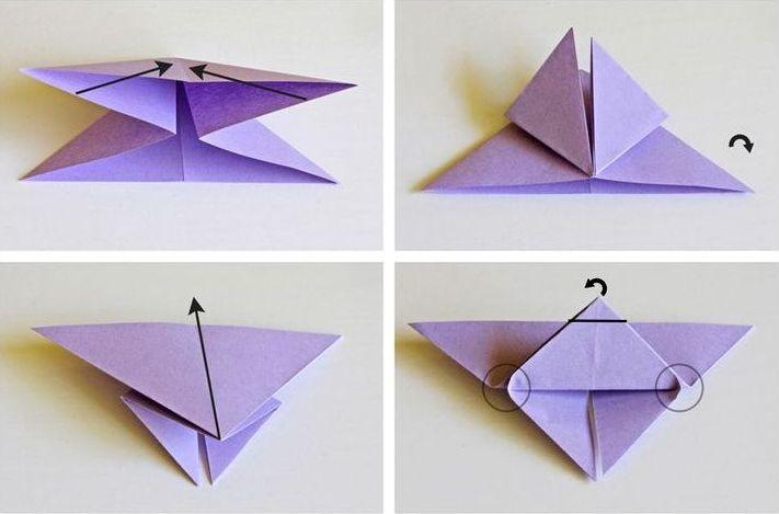 Оригами бабочка из бумаги своими руками видео