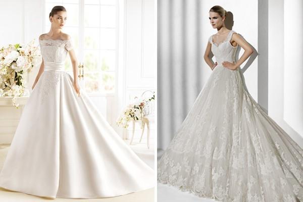Свадебное платье буква а